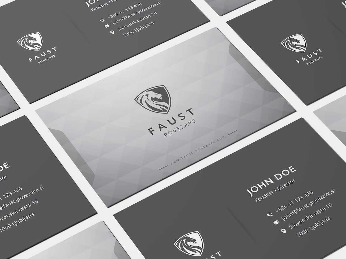 FAUST business cards